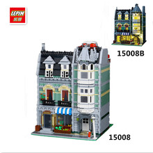 IN STOCK 2462Pcs DHL LEPIN 15008 15008B City Street Green Grocer Model Building Kits Blocks Bricks