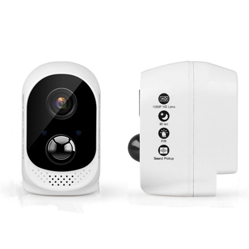 À piles de sécurité Caméra IP wi-fi 1080 P Rechargeable Alimenté Par Batterie HD sans fil sécurité à la maison Caméra de vidéosurveillance alarme PIR