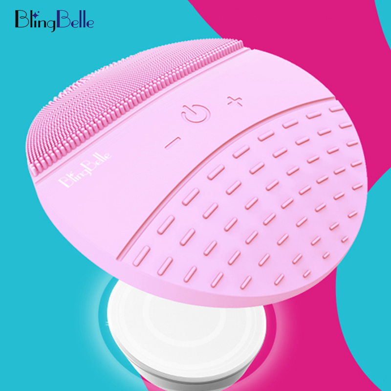 BlingBelle Silicone Electric Face Brush Dirty Pore Cleaning Silicone Face Brush Cosmetology For Face Skin Care Tools