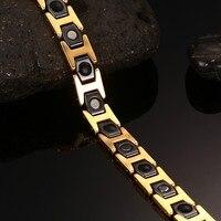 Top Quality Stainless Steel Ceramic Health Bracelets Man Bangles for Hologram Bracelet Energy Bracelets Men