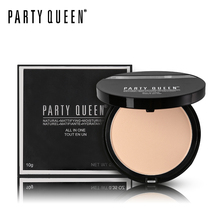 Party Queen Velvet Natural Pressed Powder Mineral Face Base Foundation Makeup Matte Finish Contour Palette Concealer Oil-Control