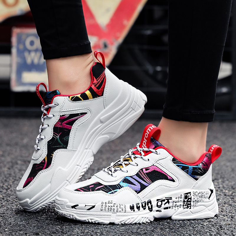ERNESTNM Sneakers Women Summer Woman Casual Fashion Shoes Graffiti Flats Ladies Vulcanized Shoes White Sneakers Zapatos Mujer Pakistan