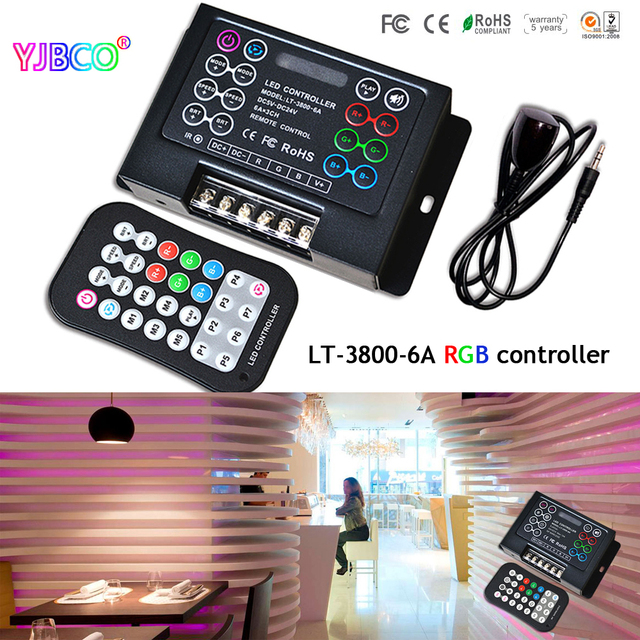 Ltech lt 3800 6a programmable led rgb controller with remote for ltech lt 3800 6a programmable led rgb controller with remote for led strip lights aloadofball Image collections
