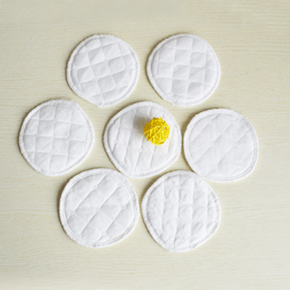 Breast-Pads Super-Absorbent Waterproof Baby-Care Cotton 2pcs Round-Shape Pregnant-Women