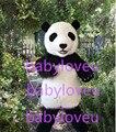 Новый высокое качество panda талисмана фурсьют медведь полный костюмы талисмана точно как показано
