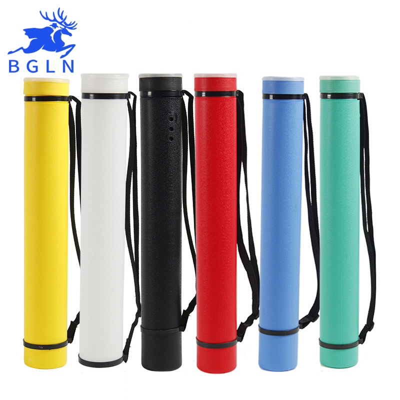 6Colors Square Drawing Tube Adjustable Portable Drawing Large Capacity Strong Poster Tube For Artist Supplies
