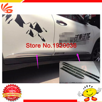 Car Styling Chrome Body Side Door Trim Molding Exterior Cover For X TRAIL 2014 Door Side