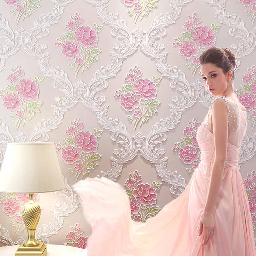 Paars roze behang koop goedkope paars roze behang loten van ...