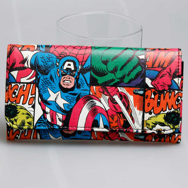 Avengers Wallet women long purse Captain America wallets DFT-1805