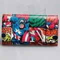 Capitán América marvel mujeres monedero largo carteras DFT-1805