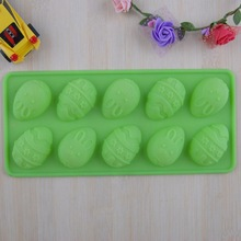 Easter cake design DIY 10-hole Easter eggs silicone chocolate mold DIYcake decorating silicone nonstick bakeware free shipping