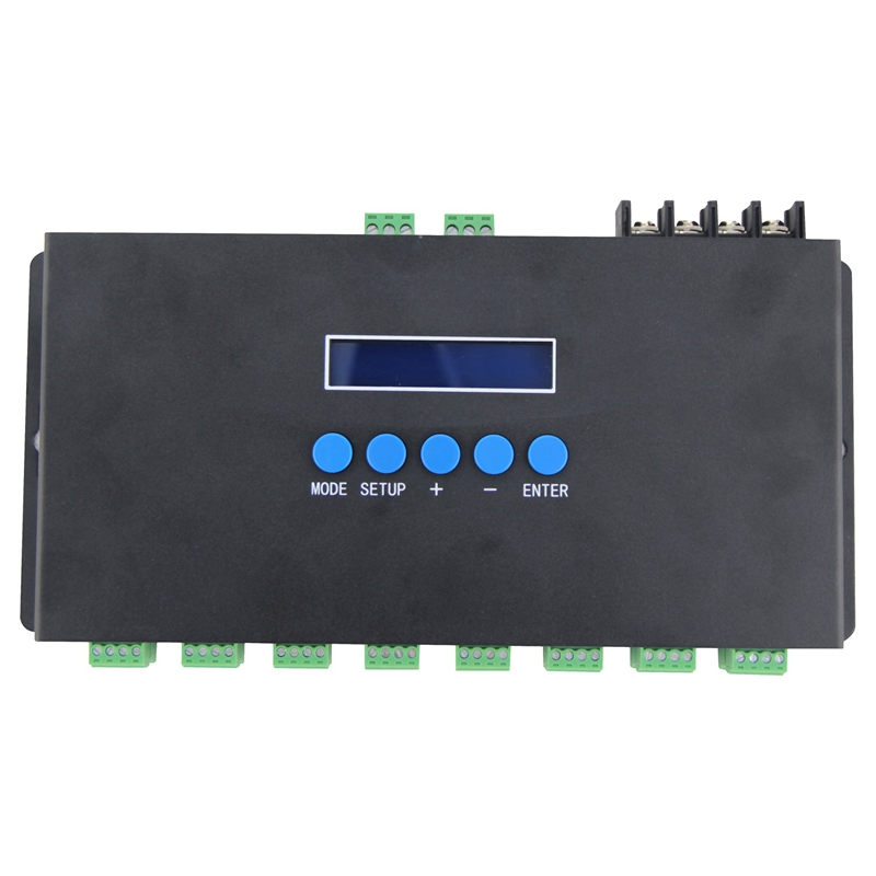 Bc 216 Two Port 16 Channels Artnet To Spi Dmx Ws2811 Ws2812B Sk6812 2801 8806 Led Pixel Controller 340Pixels 16Ch Dc5V 24V in AC DC Adapters from Consumer Electronics