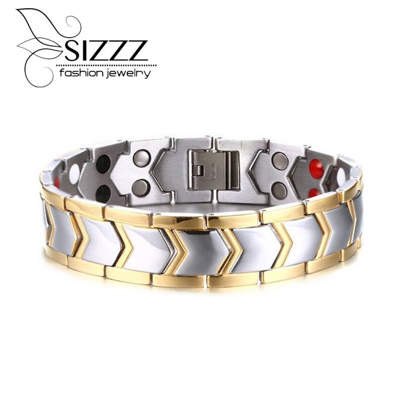 Mode Bracelet Santé D'énergie de Bijoux Bracelets Magnétiques pour Homme Bracelets
