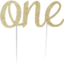 Glitter Cake Topper per bambini bambini ragazze ragazzi un anno 1st First happy birthday party baby shower Anniversario decorazione forniture