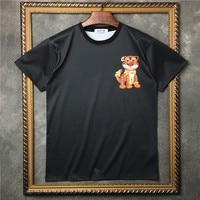 New High 2017 Men Cartoon tigers T Shirts T Shirt Hip Hop Skateboard Street Club Cotton T Shirts Tee Top Parkour #B7