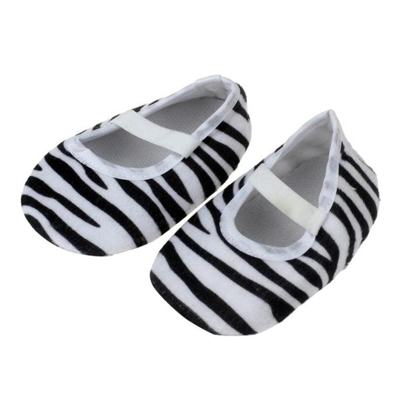 2018 Kids Party Cartoon Kids Baby Stripe Printing Newborn Cloth Shoes 1204