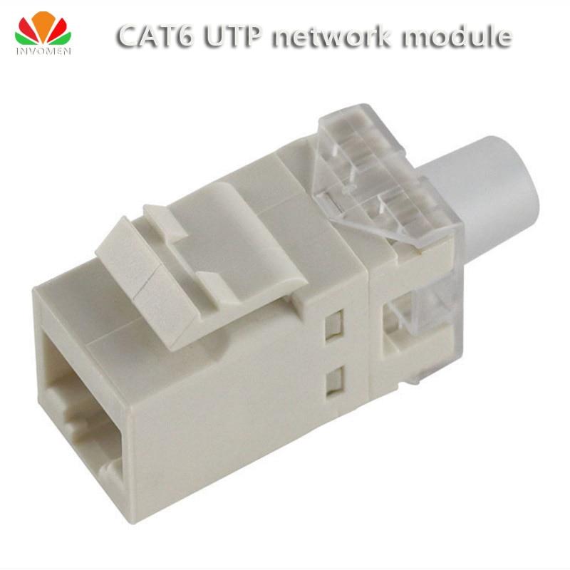2pcs/lot UTP CAT6 network module gilt180 wire RJ45 connector information socket Computer Outlet Cable adapter Keystone Jack stk4234mk5 module 2pcs lot