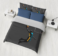3pcs Play Basketball Pinted 3D Duvet Cover Set Bedding set With Pillowcases for Adults Kids Twin Full Queen King Size