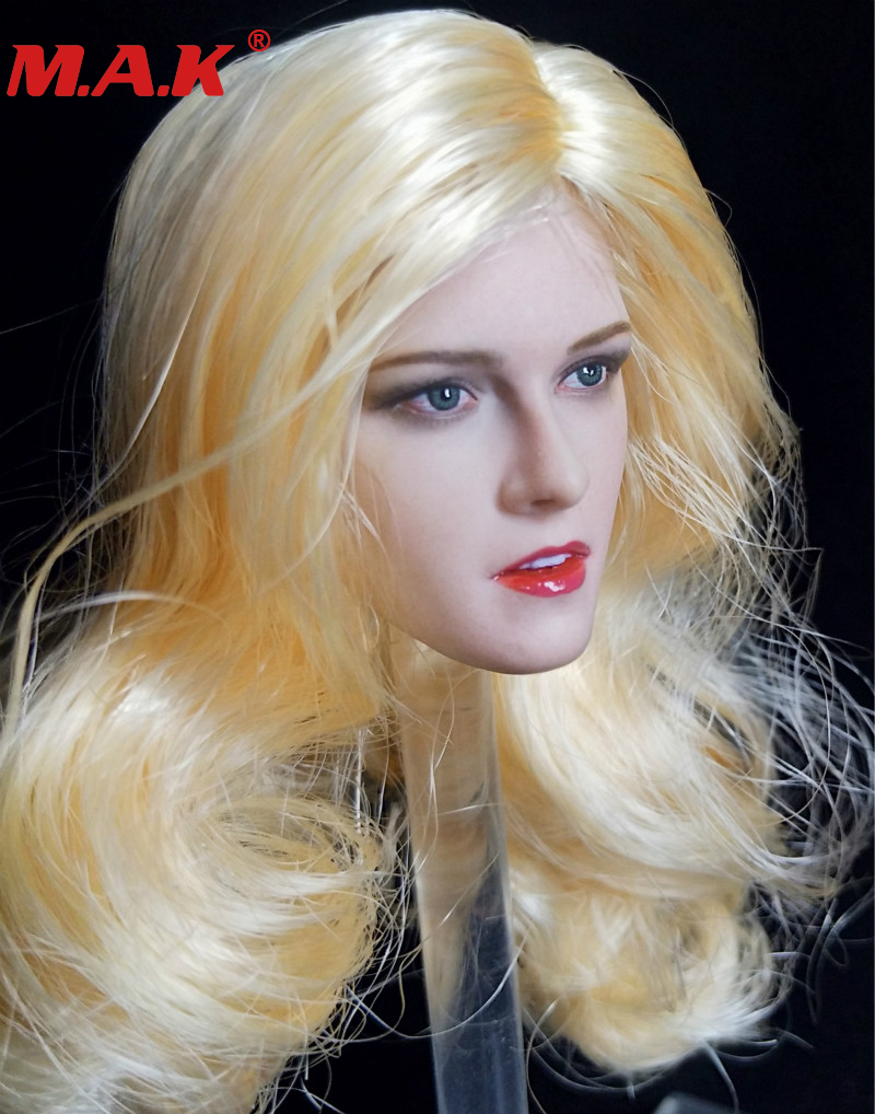 brown yellow black hair 1/6 scale Kristen Stewart head sculpt carved long hair female woman girl headplay model for 12'' body 1 6 fs010 phoebe agent kristen stewart american ultra movie full sets figure with head sculpt female body shoes jeans model m3n
