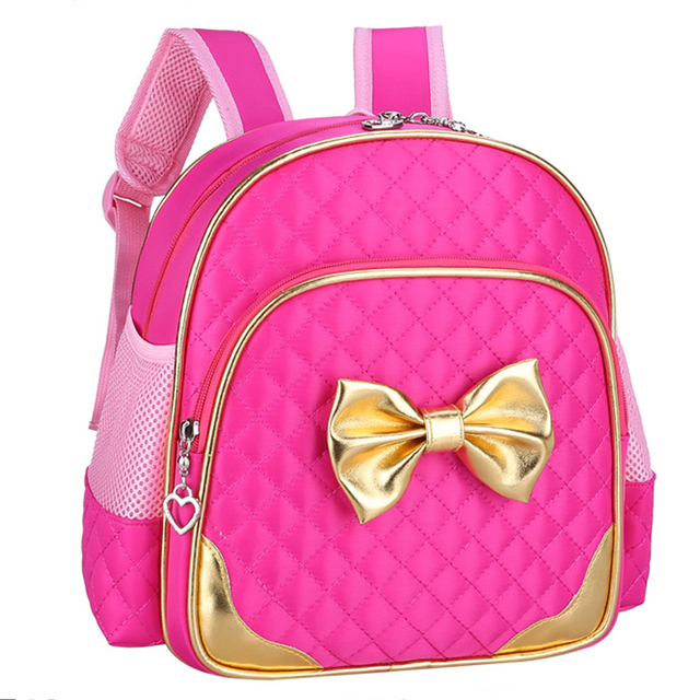 2016 New Kids Bow Knot Schoolbag Girls Lovely Backpack Schoolbag For Kids Children Christmas Gift Bags