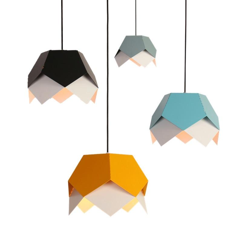 dkny the modernist ny2640 Modernist Art Decor Hanging Light E27 Bulb Simple Geometrical Metal Pendant Lamp For Restaurant Bedroom Living Room Lighting 509