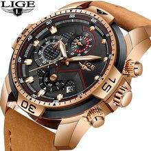 LIGE mode montre pour hommes haut de gamme de luxe analogique Quartz montres hommes sport étanche militaire chronographe Relogio Masculino + boîte