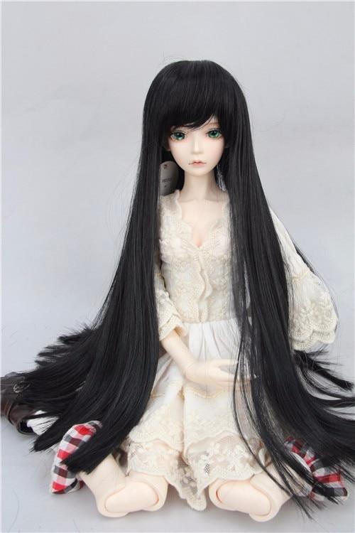 Top quality 1/3 1/4 1/6 Black Long BJD Hair SD Doll Wig BJD SD Hot Sale