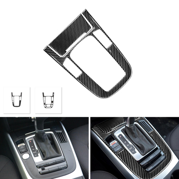 Real Carbon Fiber Center Console Gear Shift Panel Cover Frame Trim For Audi A4 B8 A5 2009 2010 - 2016/ Q5 2010-2018 4pcs real carbon fiber interior window door panel trim cover inner sticker strip for audi a4 b8 a5 2010 2011 2012 2013 2016