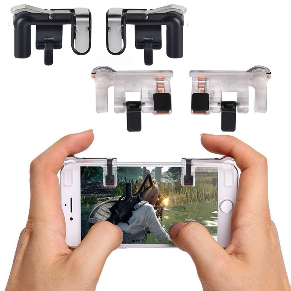 US $1 89 29% OFF Wrumava Phone Gamepad Touch Aim Shooting Trigger Fire  Button Mobile Game Joysticks Controller Assist Tools Kit For PUBG FPS  STG-in
