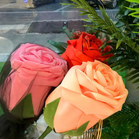 Large Foam Rose Artificial Rose Bouquet Large Rose Flower Head Party Wedding Valentine's Day for Women's Day Marriage Lover Gift