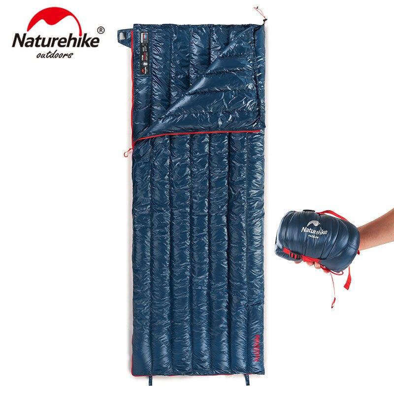 Naturetrekking 570g ultra-léger imperméable à l'eau en duvet d'oie blanche sac de couchage enveloppe Type paresseux sac Camping sacs de couchage NH17Y010-R