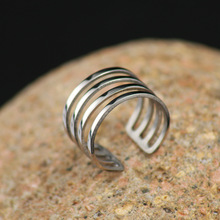HOMOD Promotion open adjustable size geometry stainless steel Ring men Jewelry Wholesale Dropshipping