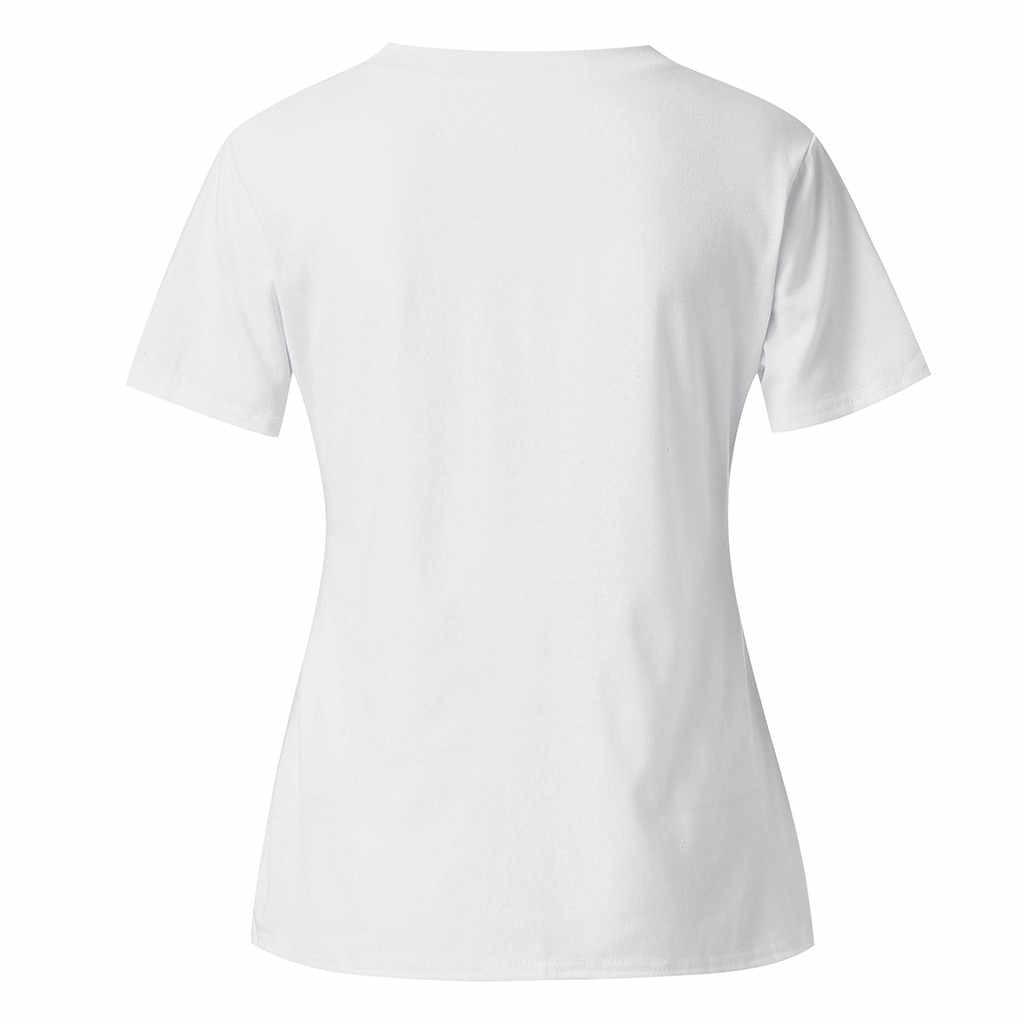 Telotuny Wanita Jejak Blus 2019 Wanita Fashion Maternity Baby Footprint 2019 Dicetak Kehamilan Panjang T-Shirt Solid