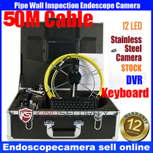 50M security waterproof endoscope pipe inspection DVR camera, Keypad Camera, video recorder pipe camera,text recorder camera