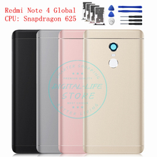 For Xiaomi Redmi Note 4 Global Version Metal Battery Back Rear Cover Door Housing Flash Cover Replacement Repair Spare Parts