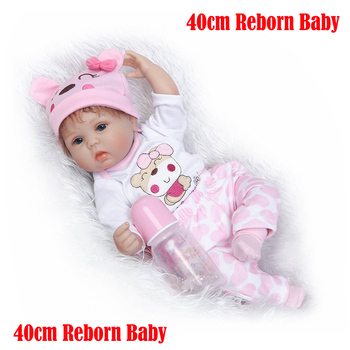 17inch Soft Silicone Reborn Dolls lol reborn-baby collectible sleeping infant toddler Kids Real touch bebe Xmas gift toys - discount item  50% OFF Dolls & Accessories
