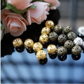 300pc Hollow Ball Shape Metal Beads 8mm Spacer Charm Bead Wholesale Beads Jewelry Supplies For Jewelry Making