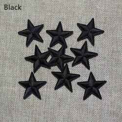 Nouvelle arrivée 10 pcs Noir Couleur little star Brodé patchs fer sur Motif Applique de bande dessinée BRICOLAGE broderie accessoire