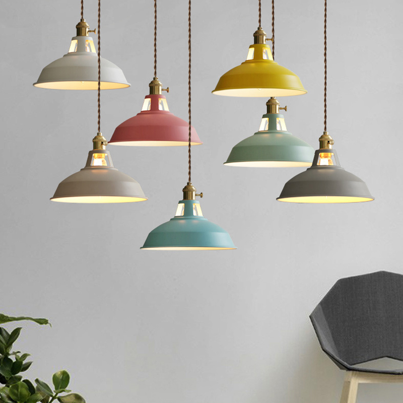Modern Pendant Light Wood Light Aluminium Lampshade Nordic Style Suspension Luminaire Hanging Lamp Vintage Pendant Lamp Rustic