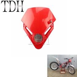Motocross Mini trójkąt reflektor zabrudzenia motocyklowe rower czerwona lampa czołowa led Enduro Supermoto do gazu gazowego TXT Pro EC 280 125 250 300| |   -