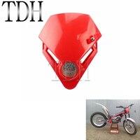Motocross mini triângulo farol da motocicleta bicicleta sujeira led vermelho enduro supermoto para gás txt pro ec 280 125 250 300 -