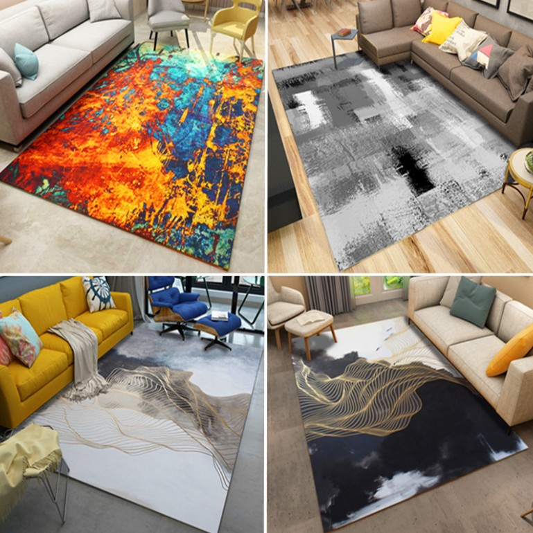 Living Room Abstract Area Rugs Bedroom