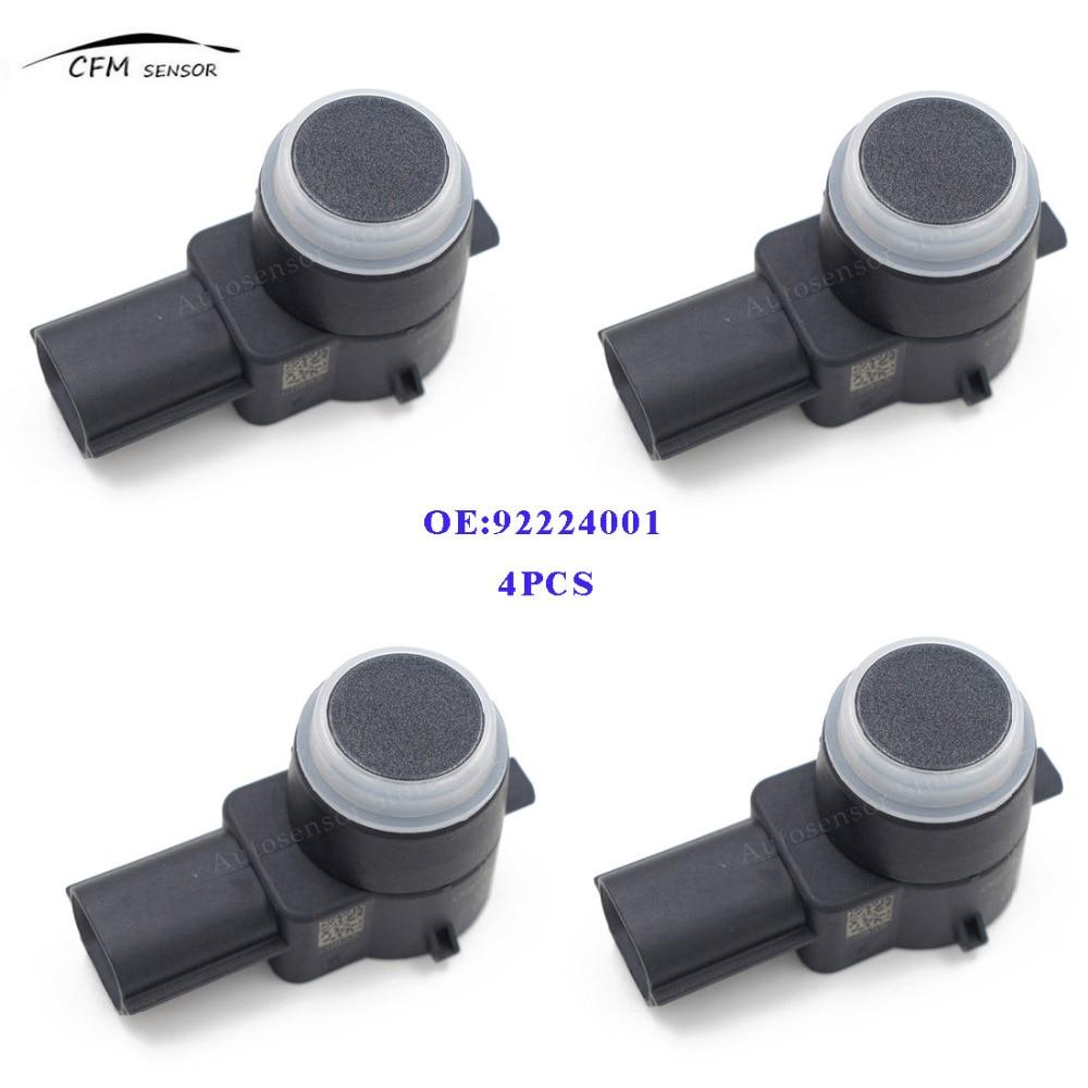 Otomobiller ve Motosikletler'ten Park Sensörleri'de 4 ADET 92224001 Yüksek Kalite GM 0263003974 Için PDC Park Sensörü Tampon Ters Yrd title=