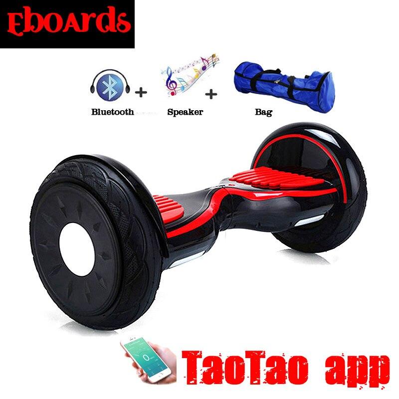 Taotao APP Hoverboard 10 Polegada Bluetooth Música Giroskuter Gyroscooter  Skate Duas Rodas Auto Balance Scooter Elétrica Inteligente em Scooters  Equilíbrio ... 8d49da4f266