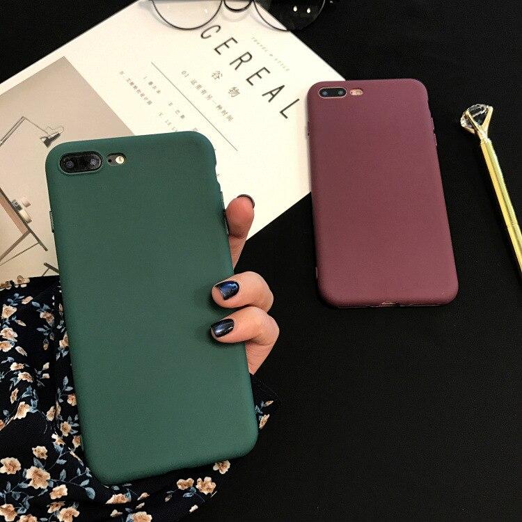 מקרה טלפון עבור iPhone X XS XR XSMAX 6 7 8 בתוספת מקרי אופנה צבעים בוהקים Fundas צבא ירוק TPU רך כיסוי נייד טלפון מעטה