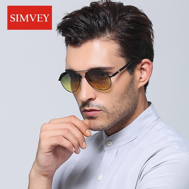 Night Vision Driving Glasses Classic Day and Night Polarized Sunglasses Goggles Men's Car Drivers Anti-glare Glasses 1
