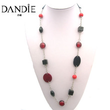 Dandie Coloured Shellfish Acrylic Long Necklace , Fashion Jewelry, Costume Accessory For Women