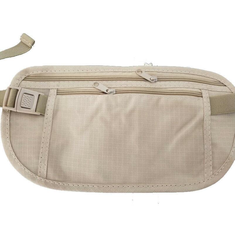 2019 New Travel Waist Bag Unisex Hidden Waist Safety Purse Belt Bag Heuptas