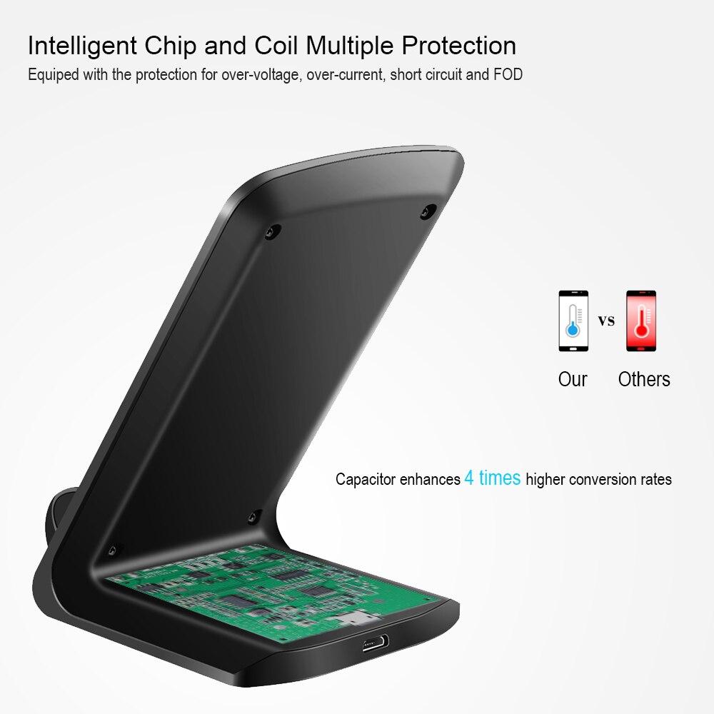 Qi Wireless Charger Untuk Samsung Galaxy S8 Chunfa Plus S7 Tepi Datar S6 Catatan 8 Cepat Pengisian Nirkabel Iphone X Ditambah