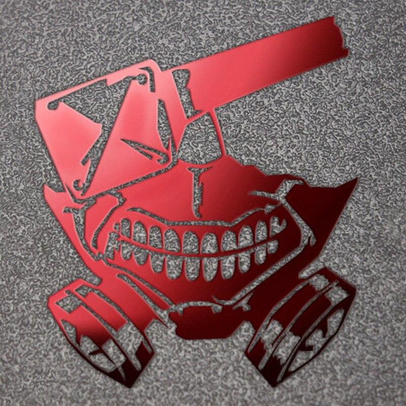 Large Tokyo Ghoul Kaneki Mask Anime Sticker Phone Laptop Stikers Car Decoration  DIY Metal Stickers Toys For Kids
